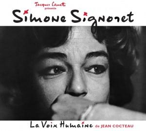 Simone signoret - La voix humaine (pochette) - Productions Jacques Canetti